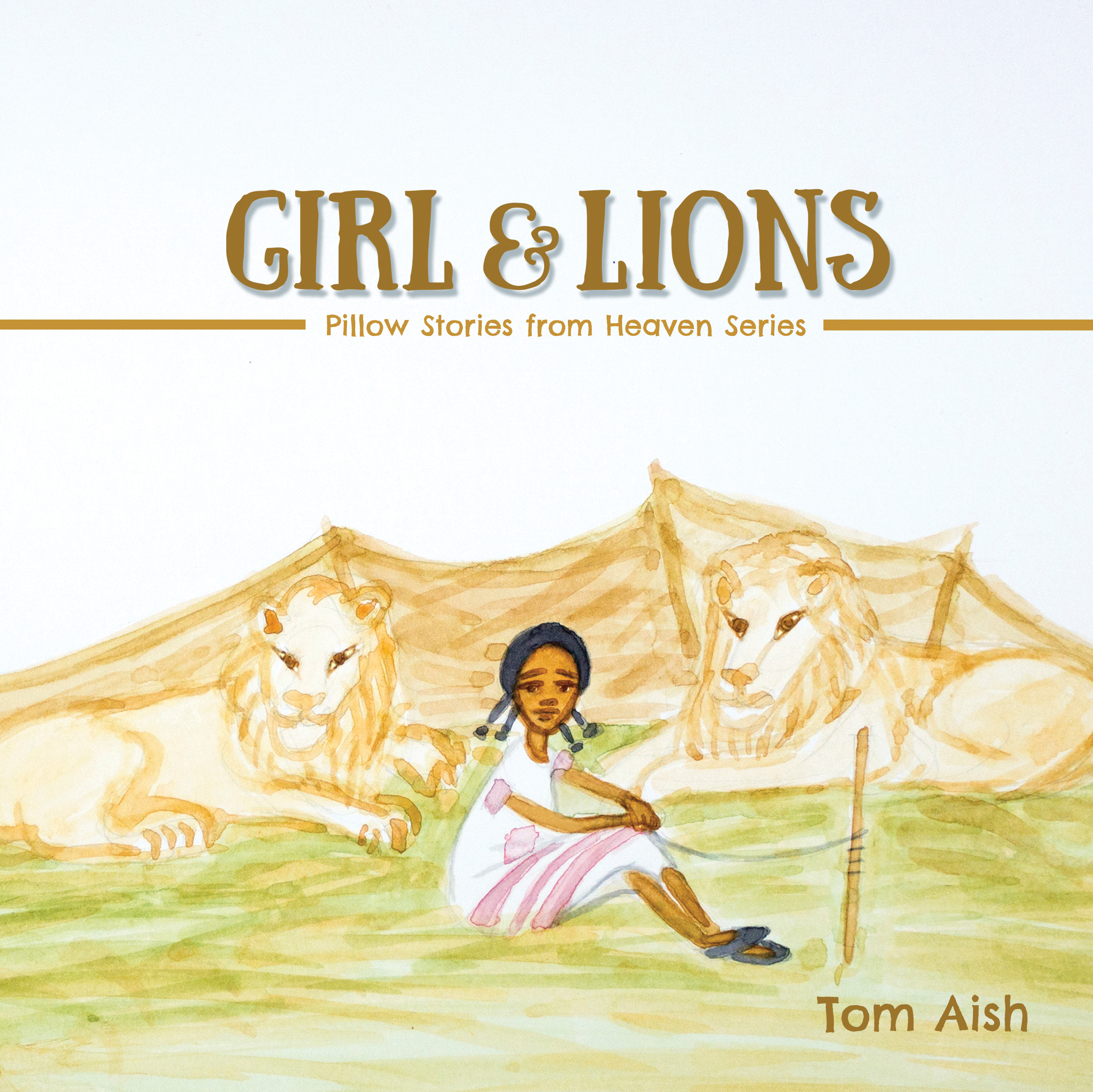 Girl and Lions